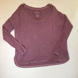 4/$25 AEO Soft and Sexy Long Sleeve Split Hem Tee